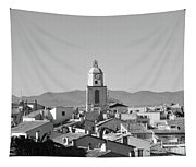View Of The Village And The Clocher Of Saint-tropez Tapestry