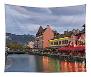 View Of Thiou River In Annecy Tapestry