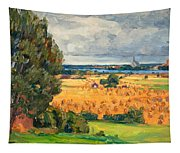 View Of Vadstena From The Surrounding Fields Tapestry