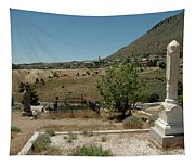 View Of Virginia City Nv From The Final Resting Place Tapestry