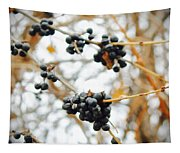 Vignettes - Indigo Winter Berries Tapestry