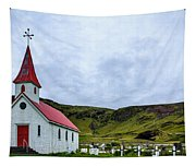 Vik Church And Cemetery - Iceland Tapestry