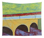 Village And Bridge Tapestry