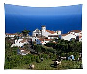 Village In The Azores Tapestry