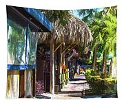 Village Life II - Siesta Key Tapestry