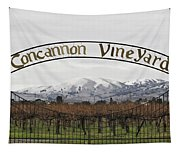 Vineyard Under Snow Tapestry