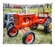 Vintage Allis-chalmers Tractor Watercolor Tapestry