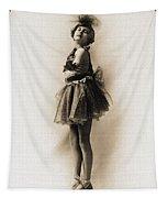 Vintage Ballet Dancer On Pointe Tapestry