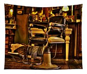 Vintage Barber Chair Tapestry