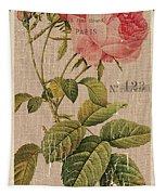 Vintage Burlap Floral 2 Tapestry