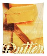 Vintage Butter Advertising. Kitchen Art Tapestry