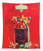 Vintage Candy Store Gum Ball Machine Tapestry