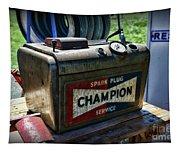 Vintage Champion Spark Plug Cleaner Tapestry