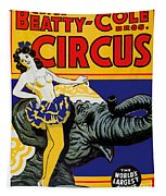 Vintage Circus Rider Tapestry