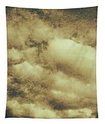 Vintage Cloudy Sky. Old Day Background Tapestry