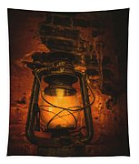 Vintage Colonial Lantern Tapestry