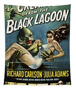 Vintage Creature From The Black Lagoon Poster Tapestry
