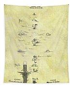Vintage Croquet Patent Tapestry