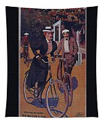 Vintage Cycle Poster March Davis Cycle 100 Dollars Tapestry