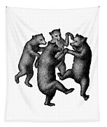 Vintage Dancing Bears Tapestry