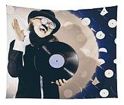 Vintage Dj Bringing Back The Retro Beat Tapestry