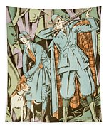 Vintage Fashion Plate Twenties Sporting Outfits Tapestry