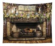 Vintage Fireplace Tapestry
