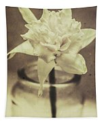 Vintage Floral Still Life Of A Pure White Bloom Tapestry