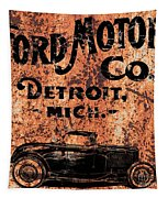 Vintage Ford Motor Company Tapestry