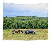 Vintage Ford Tractor Tilt Shift Tapestry