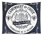 Vintage French Cheese Label 3 Tapestry