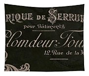 Vintage French Typography Sign Tapestry