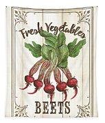 Vintage Fresh Vegetables 1 Tapestry