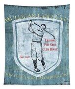 Vintage Golf Blue 1 Tapestry