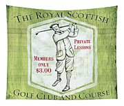 Vintage Golf Green 1 Tapestry