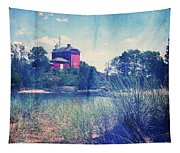 Vintage Great Lakes Lighthouse Tapestry