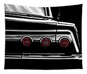 Vintage Impala Black And White Tapestry
