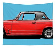 Vintage Italian Automobile Red Tee Tapestry