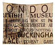 Vintage London Sepia Tapestry