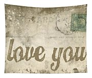 Vintage Love Letters Tapestry