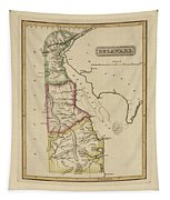 Antique Map Of Delaware Tapestry
