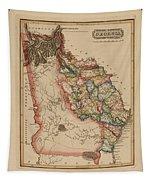 Antique Map Of Georgia Tapestry