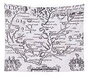 Vintage Map Of Virginia Tapestry
