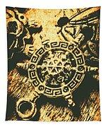 Vintage Maritime Design Tapestry