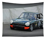 Vintage Mg Race Car Tapestry