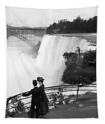 Vintage Niagara Falls - View From Goat Island - 1908 Tapestry