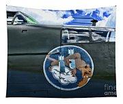 Vintage Nose Art B-25j Mitchell Tapestry