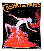 Vintage Paris Showgirl Tapestry