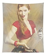 Vintage Perfume Advertisement Circa 2015 Tapestry
