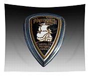Vintage Plymouth Car Emblem Tapestry